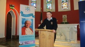 Cian McManus, student at St. Patrick's College in Cavan - Guest Speaker